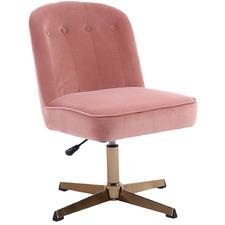 Moira Velvet Office Chair