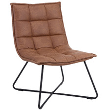 Cartagenon Faux Leather Panelled Lounge Chair