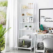 White Chole 6 Tier Ladder Shelf