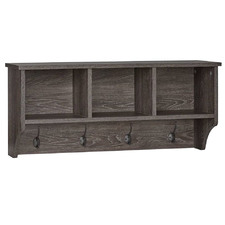 Carlisle Wall Shelf with Hooks