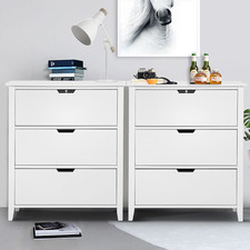 White Denny Chest of Drawers (Set of 2)