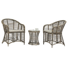 Connie PE Rattan Outdoor 2 Person Lounge Set