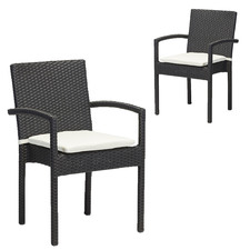 Lennon PE Rattan Outdoor Dining Chairs (Set of 2)