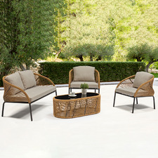 Barnes PE Rattan Outdoor Sofa Set