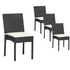 Armin PE Rattan Outdoor Dining Chairs (Set of 4)