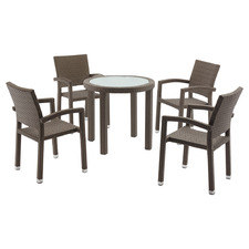 4 Seater Andrea PE Rattan Outdoor Dining Set