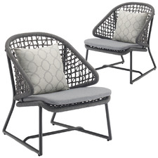 Dark Grey Celestina Outdoor Armchairs (Set of 2)