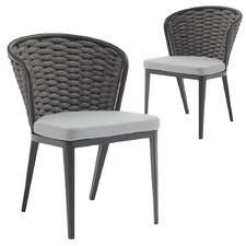Dark Grey Davina Outdoor Dining Chairs (Set of 2)