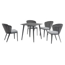 4 Seater Dark Grey Beatrice Outdoor Dining Set