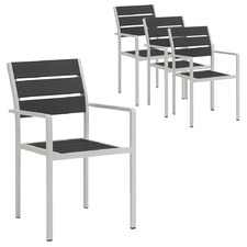 Estelle Aluminium Outdoor Dining Chairs (Set of 4)