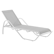 White Brady Aluminium Outdoor Sun Lounge