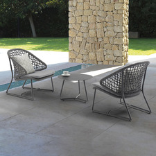 Dark Grey Celestina Outdoor 2 Person Lounge Set
