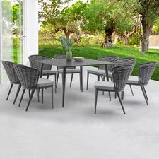 8 Seater Dark Grey Beatrice Outdoor Dining Set