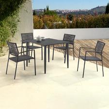 4 Seater Dark Grey Cathryn Outdoor Dining Set