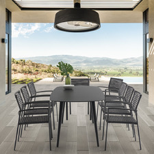 8 Seater Dark Grey Adriano Outdoor Dining Set