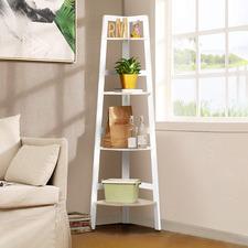 Koa 4 Tier Ladder Shelf
