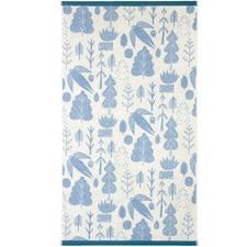 Bird & Tree Cotton Bath Towels (Set of 2)