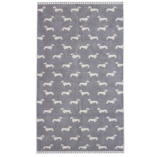 Grey Dachshund Cotton Bath Towels (Set of 2)