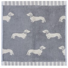 Grey Dachshund Cotton Face Washers (Set of 4)