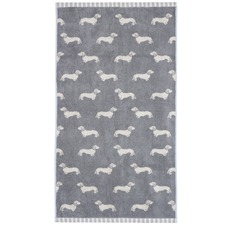 Grey Dachshund Cotton Hand Towels (Set of 4)