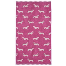 Pink Dachshund Cotton Hand Towels (Set of 4)
