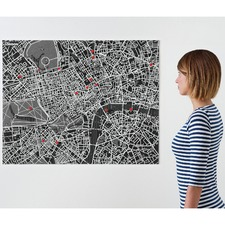 Pin City London Felt Map
