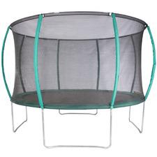 Kids' Green & Black Curved Safety Trampoline