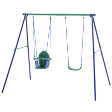 Kids' Action Double Seat Swing Set