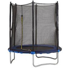 6ft Kids' Blue & Black Safety Trampoline
