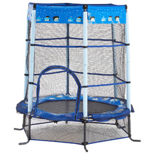 4.5ft Kids' Blue Heroes Safety Trampoline
