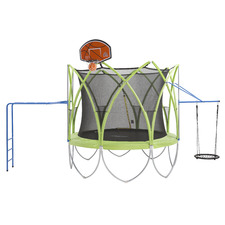 Kids' Green & Black Spark Safety Trampoline Combo