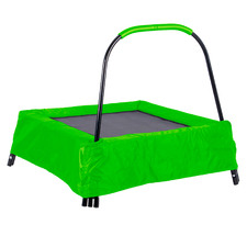 Kids' Green Rectangular Trampoline with Handle