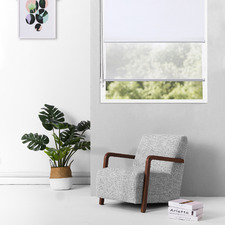White Torquay Day & Night Roller Blind