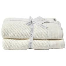 Snow Luna 100% Cotton Herringbone Bath Towels (Set of 2)