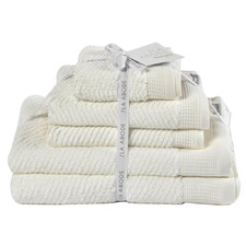 5 Piece Snow Luna Cotton Bathroom Towel Set