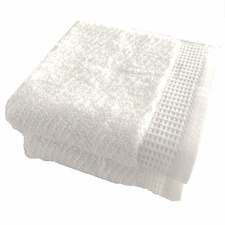 Snow Luna Herringbone Cotton Bathroom Towels (Set of 2)