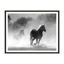 Equine Dust Framed Wall Art