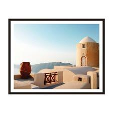 Mediterranean Vista Framed Wall Art by ArteFocus