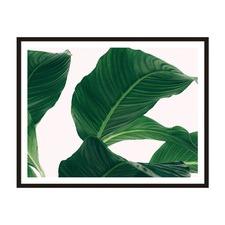 Large Leaves Framed Wall Art