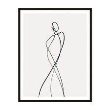 Line Girl 1 Framed Wall Art by ArteFocus