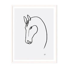 Horse 2 Framed Wall Art by ArteFocus