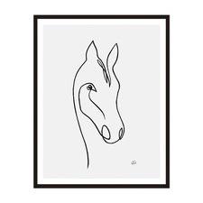 Horse 1 Framed Wall Art by ArteFocus