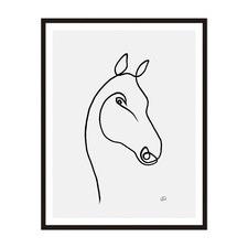 Horse 3 Framed Wall Art by ArteFocus