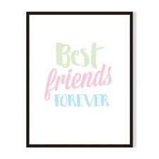 Best Friends Framed Printed Wall Art