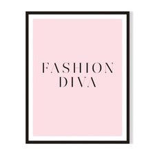 Fashion Diva Framed Printed Wall Art
