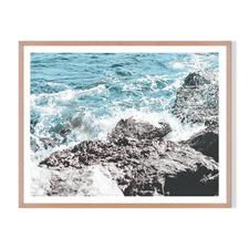 Crashing Framed Printed Wall Art