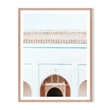 Moroccan Entry Framed Printed Wall Art