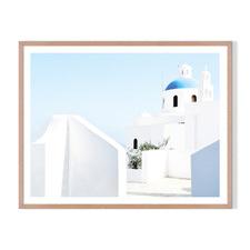 Greek Island Framed Printed Wall Art