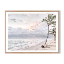 Beach Clouds Framed Printed Wall Art