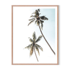 2 Palms Framed Printed Wall Art